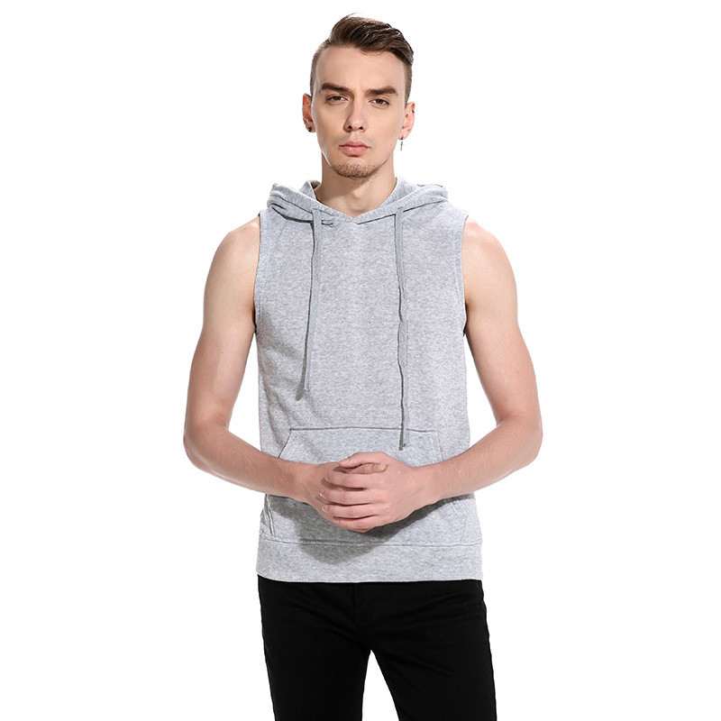 Hoodies Mens Sleeveless Pullover Tracksuit Men Cotton Hooded ...