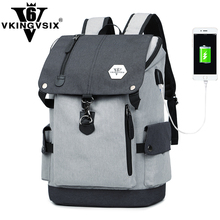 VKINGVSIXV6 backpack male korea children school bags for girls fashion casual usb charging travel laptop