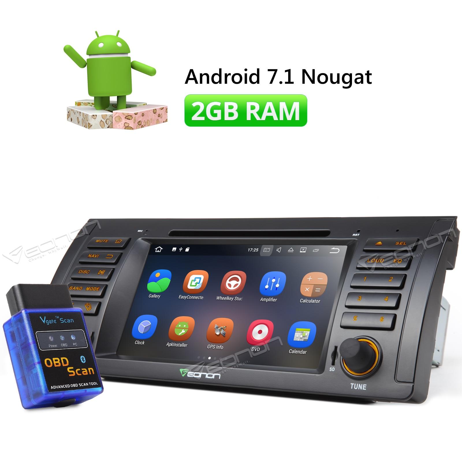 DVR 7 Android 7 1 Car Dash Stereo for BMW E39 M5 Navigator Nougat Bluetooth 2GB
