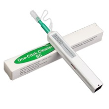 Бесплатная доставка 10 шт. один клик волоконно-оптический разъем очиститель ручка для 2,5 мм SC ST и FC разъемы Волокно Оптические Инструменты FOC Лидер продаж