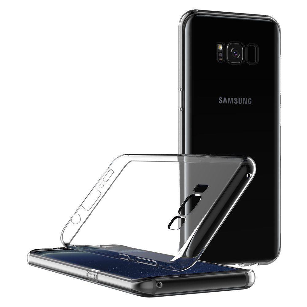 Stand case compatível Samsung S8 S9 S10 Plus Nota 8 9 10 totalmente Claro Caso Gel TPU FIT