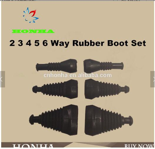 100pcs/lot 2 <font><b>3</b></font> <font><b>4</b></font> 5 6 Way/<font><b>Pin</b></font> Superseal AMP/Tyco Rubber Waterproof Boots/Sleeve Connectors image