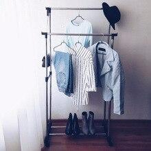 Двухуровневая стойка для одежды 80x42x80(160) см двойная напольная вешалка дешево и высокое качество