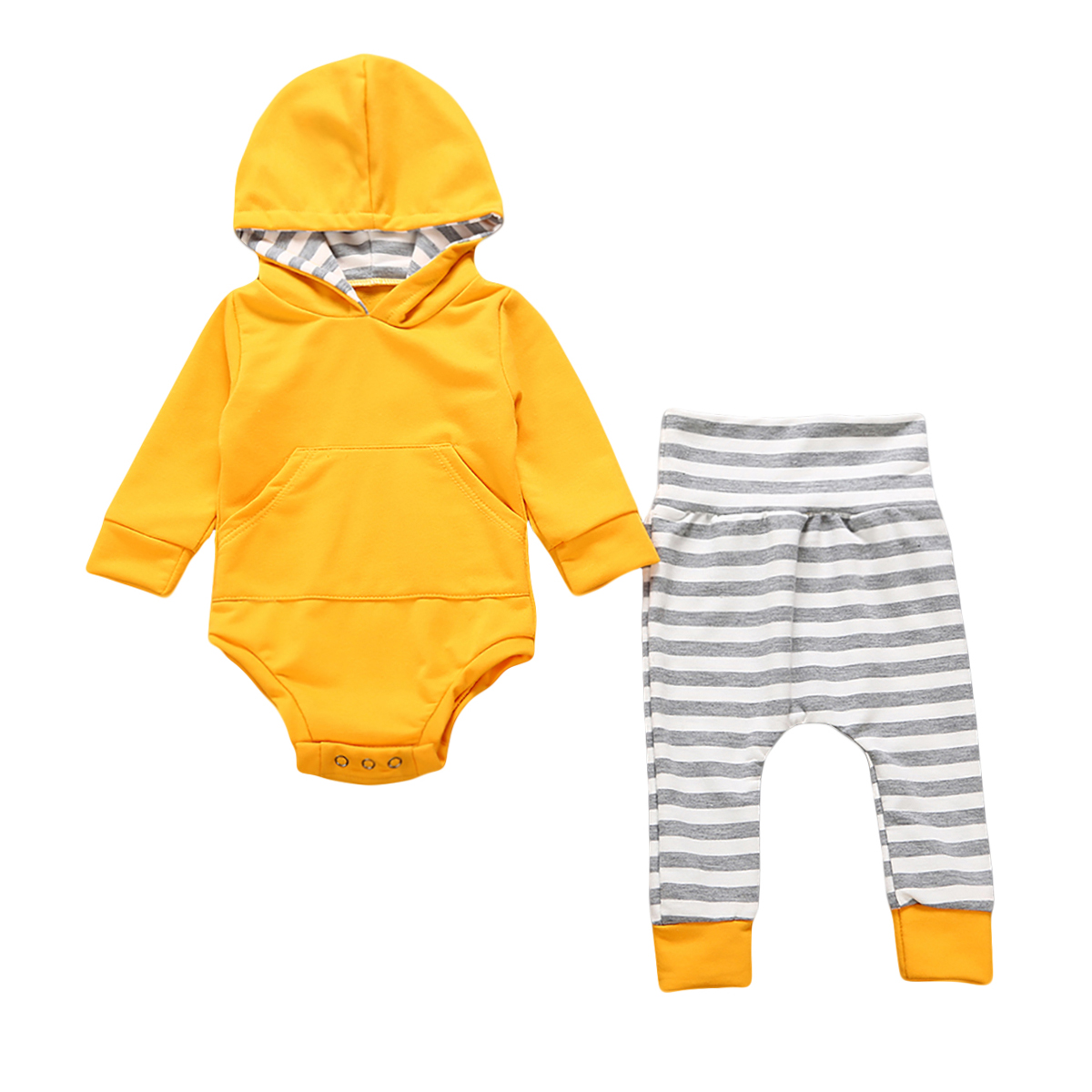 Casual Autumn Newborn Toddler Baby Boy Girl Bodysuit Tops+Pants 2pcs Outfits Set Clothes Size 0-24M
