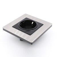 Бесплатная доставка один HiFi аудио ЕС AC Power Duple сосуды розетка Меди Гнездо