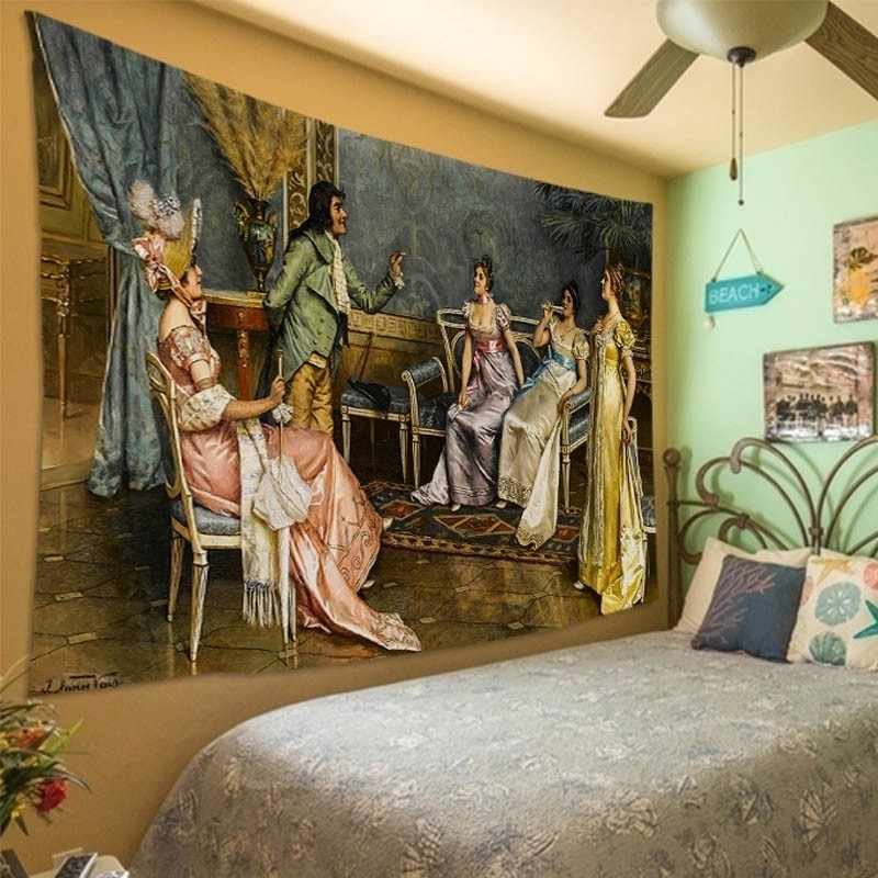 Vittorio Reggianini arte Europeia Royal court tapeçaria da suspensão de parede do quarto sala de estar Decoração home decorativa tapeçaria tapete