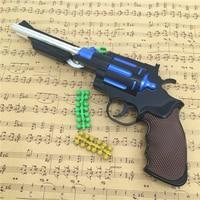 3Pcs Plastic Revolver Toy Gun Airsoft Air Guns Rifle Manual Burst Toy Guns Silah Kids Toys For Children Boys Birthday Gifts