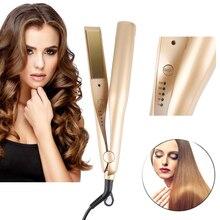 1 шт. 2 в 1 щипцы для завивки волос EU штекер плоский керамическое покрытие Выпрямитель для волос Выпрямление Ион щипцы для завивки волос инструмент для укладки волос
