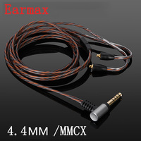 Earmax 4 4mm HIFI Earphone Cable Single Crystal Copper Silver Plating MMCX Audio Cable Replacement For