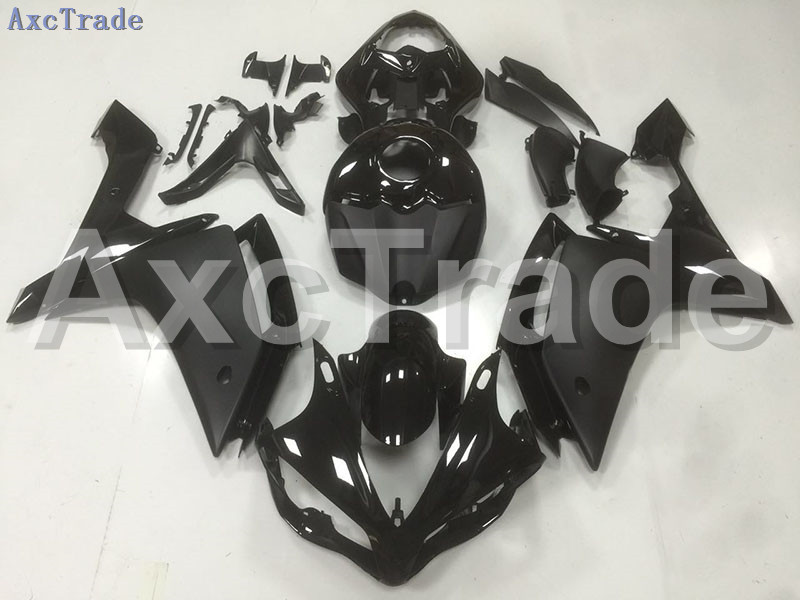 Motorcycle Fairings Kits For Yamaha YZF1000 YZF 1000 R1 YZF-R1 2007 2008 07 08 ABS Injection Fairing Bodywork Kit Black B47 hot sales for yamaha yzf r1 2007 2008 accessories yzf r1 07 08 yzf1000 black aftermarket sportbike fairing injection molding