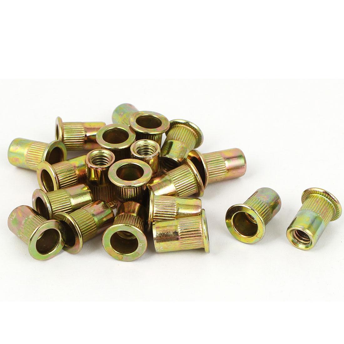 ᗕUXCELL 20 piezas M6x15mm extremo abierto cabeza plana estriada ...