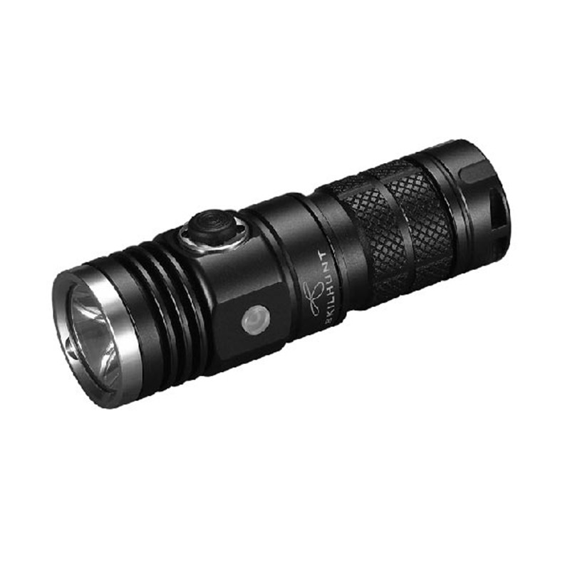 SKILHUNT DS10 Aluminum Alloy Waterproof XM-L2 5 Modes 300 Lumens LED Flashlight Torch By 16340/CR123A Battery For Camping skilhunt ds15 cree xm l2 led edc waterproof flashlight torch 5 modes 240lm 1 x 14500 or aa battery