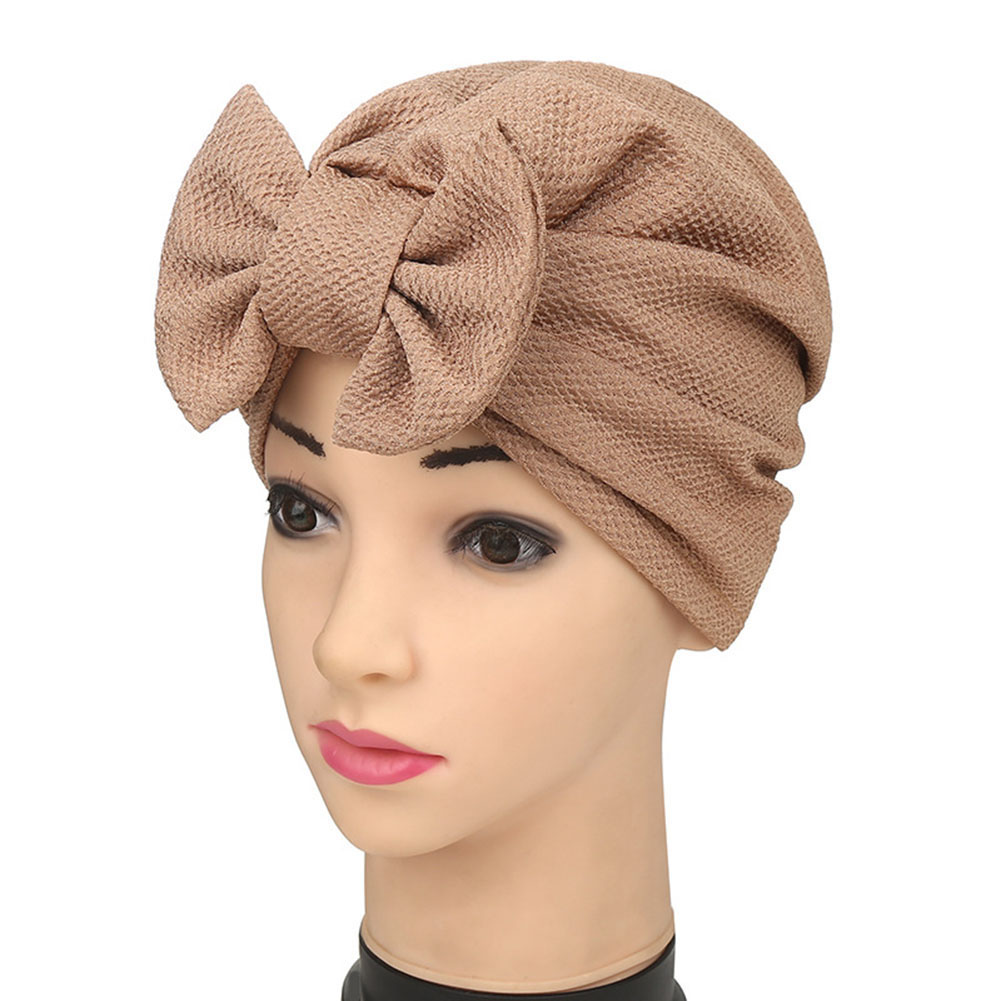 New Big Bow Turban Womens Hats Hot Style Fashion Headdress Luxury Stylish Cap Women Bowknot Hat