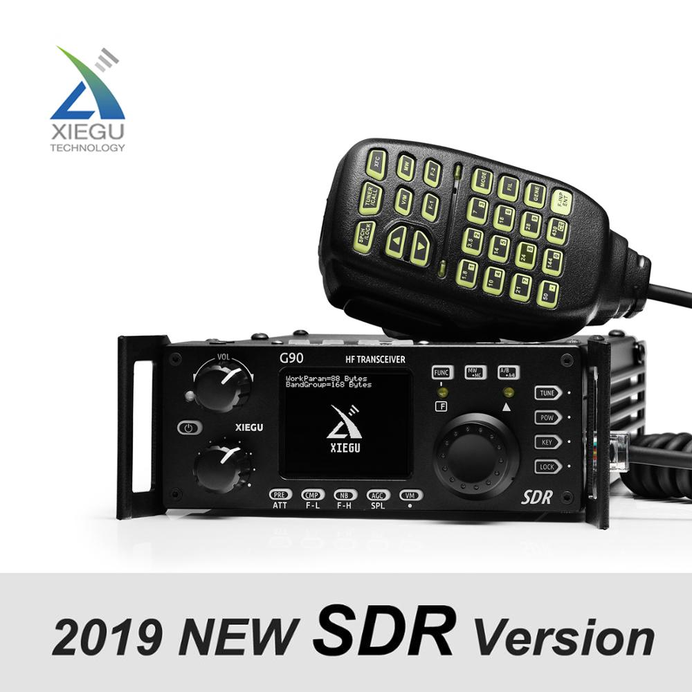 XIEGU G90 QRP HF Amateur RadioTransceiver 20W SSB CW AM FM 0.5-30MHz SDR Structure with Built-in Auto Antenna Tuner GSOC