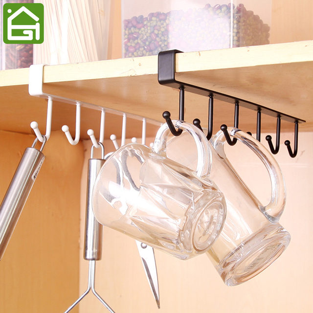 Kitchen Storage Rack Cupboard Hanging Coffee Cup Organizer Closet Shelf Hanger Wardrobe Gl Mug Holder With