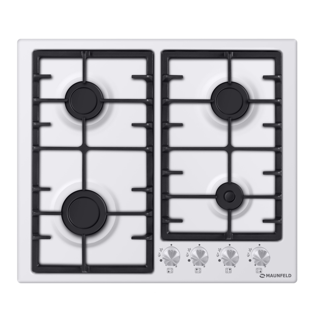Cooking panel MAUNFELD EGHE.64.3CW/G White cooking panel maunfeld eghe 64 43cw g white