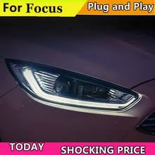 Car Styling For Ford Focus Headlights 2017 2016 2018 Headlight Drl Lens Double Beam H7 Hid Xenon Bi