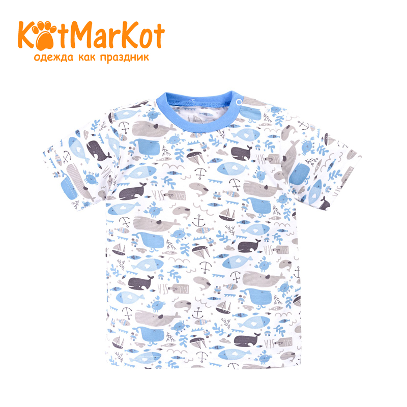 T-shirt Kotmarkot 7758 children clothing cotton for baby boys kid clothes