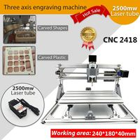 3 Axis 2418 GRBL Control Engraving Machine Mini CNC Laser Machine Milling Wood Router 2500mw Laser