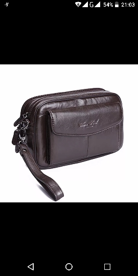 High Quality Genuine Natural Leather Hand Bag Men Casual Long Wallet Purse 6.4 Inch Mobile Cell Phone Male Handy Clutch Bags New photo review