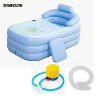 Adult Kids Inflatable Pool PVC Folding Portable Bathtub Inflatable Bath Tub Size160 84 64CM With Air