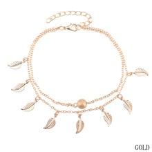 Новая мода листья кисточкой богемный листьев Ножные браслеты для Для женщин Ножные браслеты Браслеты ног Ювелирные изделия босиком сандалии подарок