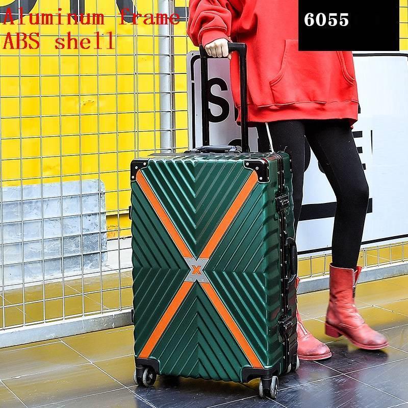 Med hjul Valise Bagage Roulettes Travel Aluminiumlegeringsram Carro - Väskor för bagage och resor - Foto 4