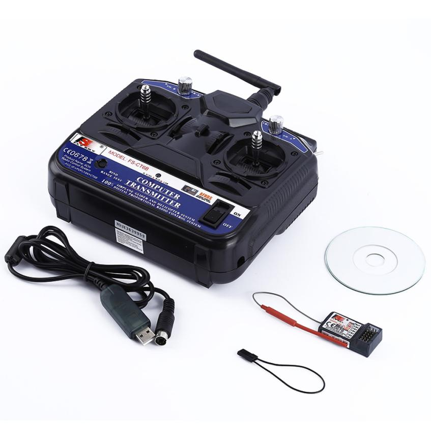 FLY SKY 2.4G FS-CT6B 6 CH Channel Radio Model RC Transmitter Receiver Control IUNEED TOY Store new hot sale fly sky 2 4g fs ct6b 6 ch channel radio model rc transmitter receiver control dorp shipping