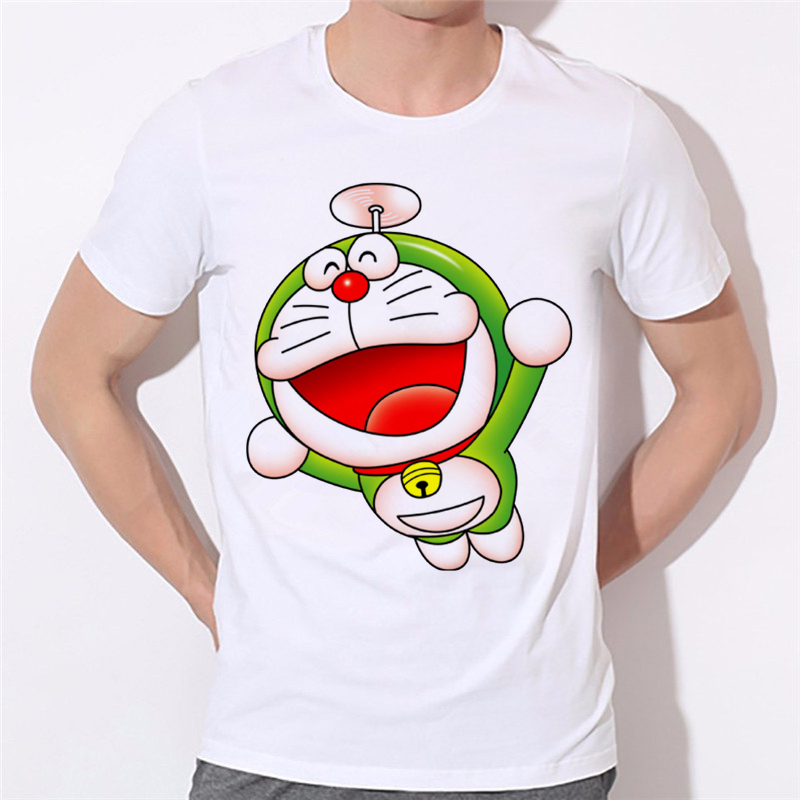 Summer Short Sleeve T-shirts Anime Cartoon Doraemon Man T Shirts Youth Fashion Men Brand Clothing