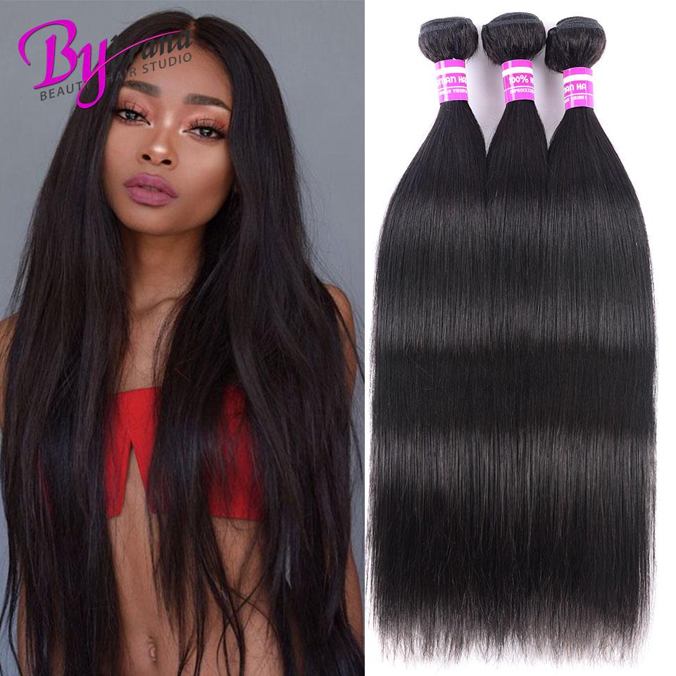 28 30 32 40 дюймов индийские прямые волосы 1/3/4 пучки сделки Bybrana человеческих волос для наращивания один Remy Необработанные индийские волосы Weave С...