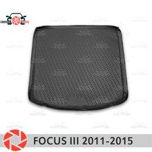 Коврик для багажника Ford Focus 3 2011-2015 коврик для багажника коврики для пола Нескользящие полиуретановые грязезащитные багажник для стайлинга автомобилей