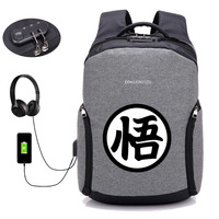USB Charge Anti theft Backpacks Japan anime Dragon Ball Z backpack student book backpack teenagers men Travel backpack package