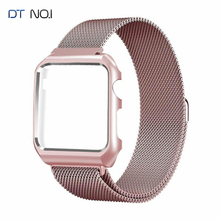DTNO.I Milanese Loop Strap Replacement for Apple Watch Series 1/2/3 Stainless Steel Strap with Metal Case Wristwatch Replacement