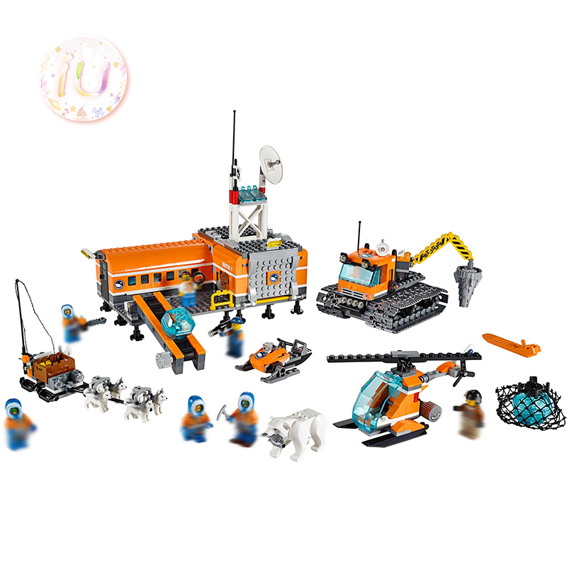 <font><b>legoings</b></font> City Series Arctic Base Camp Set Building Blocks BELA <font><b>10442</b></font> Birthday Gifts Toys For Children 783Pcs Compatible 60036 image