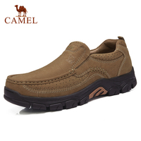 CAMEL Genuine Leather Men Shoes England Trend Male Footwear Set Foot Men's Casual Outdoors Man Flats Work Shoes Large Size 47