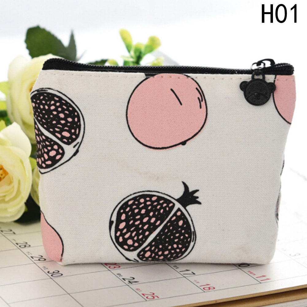 Fashion Fruits Pattern Coin Purse Cartoon Dollar Money Bag Summer New Brand Leather Purses Small Fresh Casual Coin Wallet Lady kawaii fresh summer fruits banana