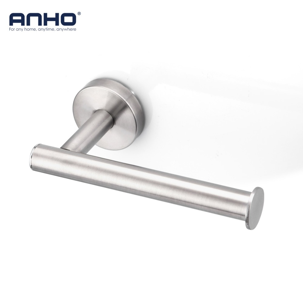 ANHO Stainless Steel Paper Holder Kitchen Hanger Tissue Roll Towel Rack Toilet Bathroom Accessories Hanging Storage Organizer anho stainless steel paper holder kitchen hanger tissue roll towel rack toilet bathroom accessories hanging storage organizer