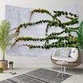 Anderes Grün ivy Blätter Blumen Grau Stein Wand 3D Druck Dekorative Hippi Böhmischen Wand Hängen Landschaft Wandteppich Kunst|Dekorative Wandteppiche|Heim und Garten -