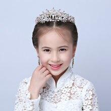 Faixa de cabelo coroa nupcial tiara de cristal do partido do cabelo