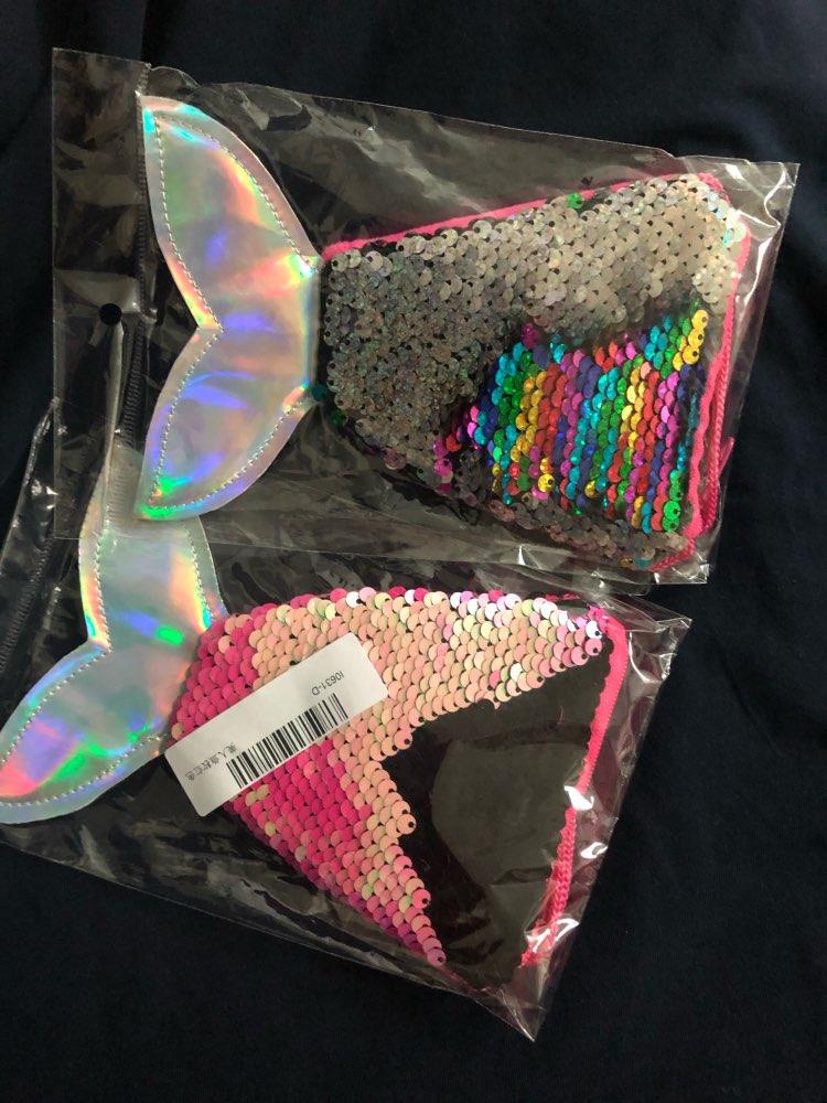 OSWEGO Sequins Bag Coin Purse For Girls Mermaid Tail Women Coin Purse Earphone Kids Zipper Purse Bag Pocket Change Wallet 2018 photo review