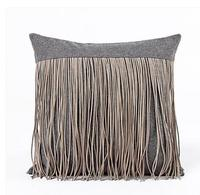 creative luxury suede fabric cushion cover solid color stereo stripes pillow cover waist pillow case indoor