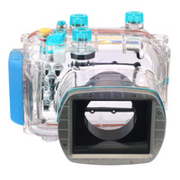 Meikon 40M 130ft Waterproof Housing Case For Canon G11 G12 As WP DC34 Camera Underwater Diving