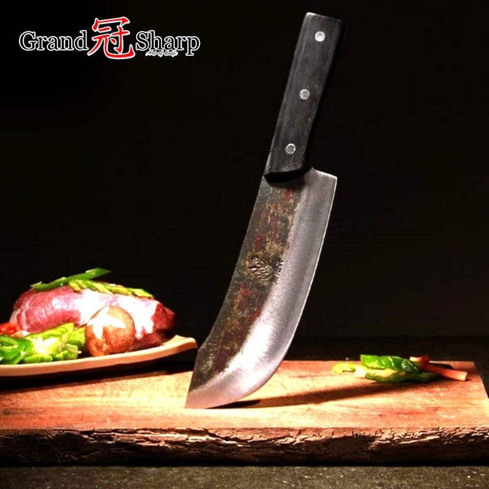 Image 2 - Faca do chef cutelo chopper cortar ferramentas de cozinha  artesanal facas tradicional estilo chinês pro afiada faca abate  novoFacas de cozinha