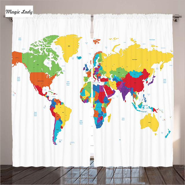 World Map Countries Continents.Curtains Modern Designs Living Room Bedroom World Map Countries