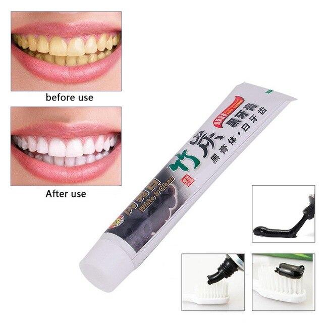 Venta caliente blanqueamiento bambú carbón Pasta dientes salud belleza herramienta Dental Cuidado Bucal seguro dientes belleza