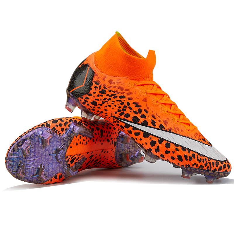 Newest Football Boots For Men Soccer Shoes FG Kids Superfly Original VI High Ankle Soccer Cleats Chuteira Futebol Wholesale toursh new football boots soccer shoes men superfly cheap football shoes for sale kids cleats indoor soccer shoes chuteira black