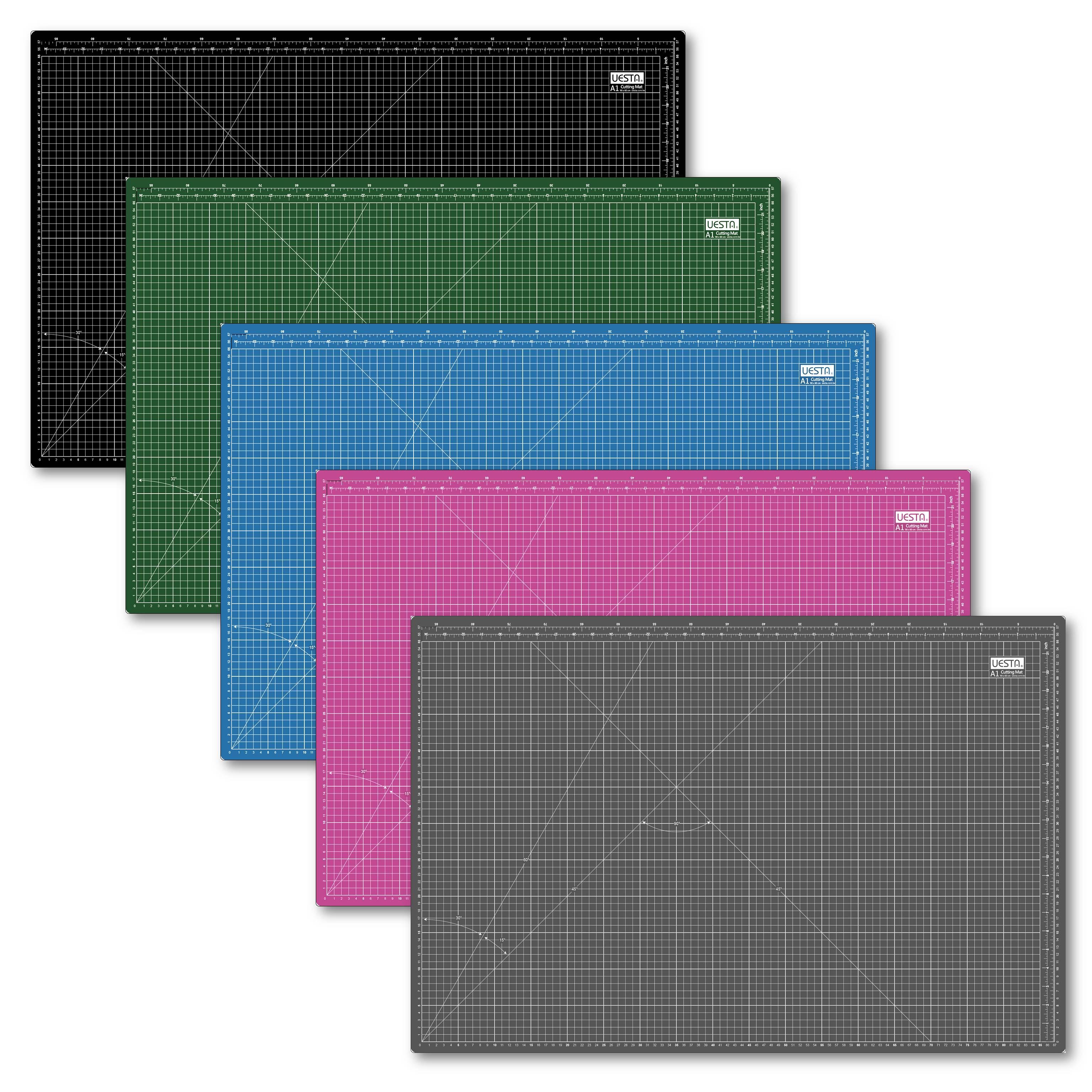 A1 Size UESTA 90 x 60 CM Grid PVC Self Healing Cutting Mats