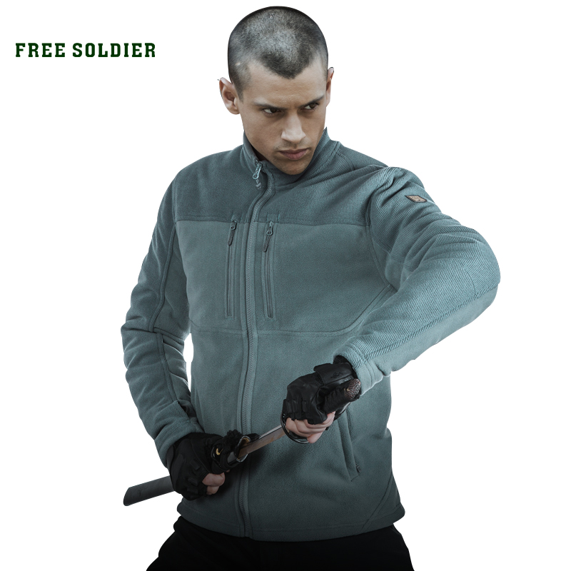 FREE SOLDIER Outdoor Tactical Military Men's Jacket For Camping Hiking Sweatshirt Wear-resistant Coat sofirn c19 high power led flashlight 18650 self defense military tactical powerful flashlight 26650 torch light camping hunting