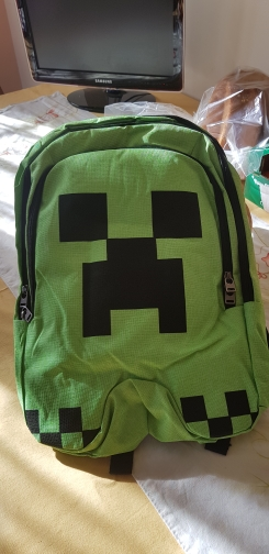 Gifts for children minecraft backpack factory directly children schoolbag boy girls canvas zip green creeper backpacks photo review