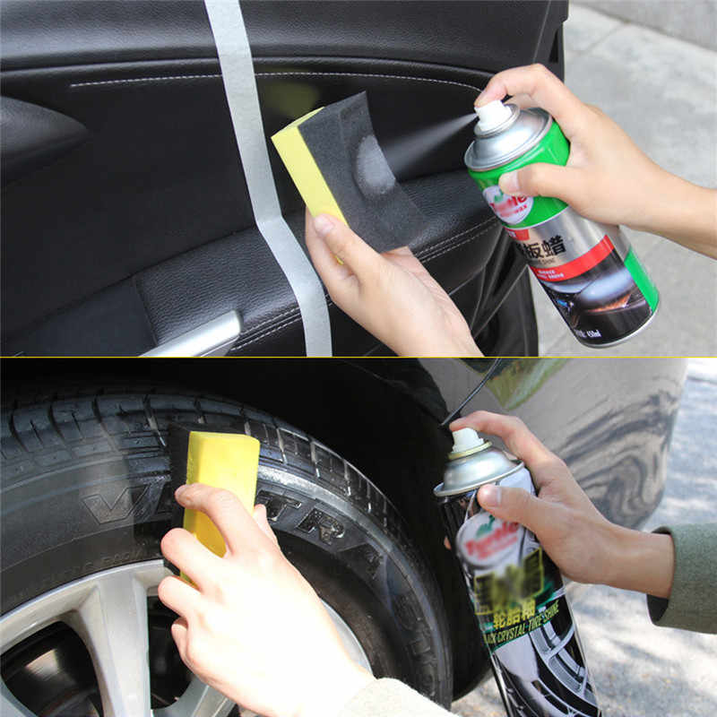 1Pc PE Multifunctional Waxing Cleaning Tool Corner Wipe Clear Residual Wax Wax Car Interior Cleaning Car Accessories Spong Brush